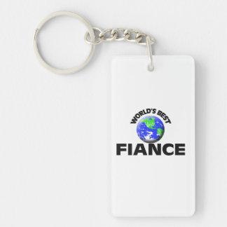 World's Best Fiance Single-Sided Rectangular Acrylic Key Ring