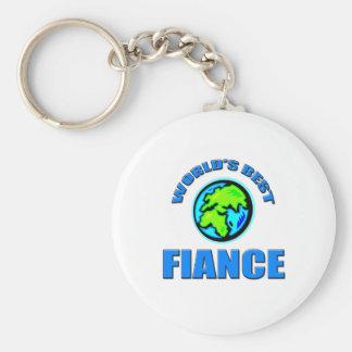 World's Best Fiance Basic Round Button Key Ring