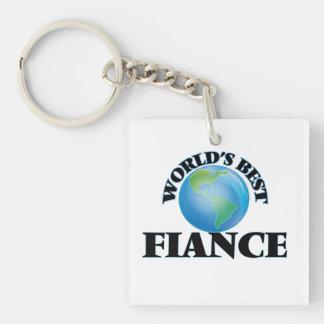 World's Best Fiance Square Acrylic Keychains