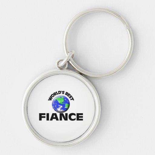 World's Best Fiance Keychain