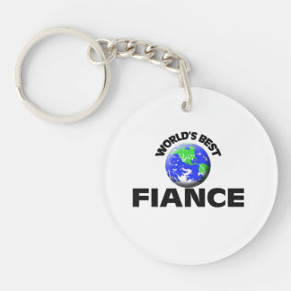 World's Best Fiance Single-Sided Round Acrylic Key Ring