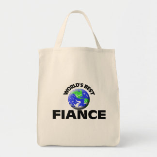 World's Best Fiance Grocery Tote Bag