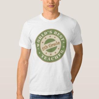 Worlds Best Fifth Grade Teacher T-shirt