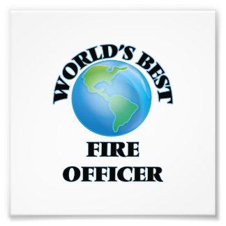 World's Best Fire Officer Art Photo