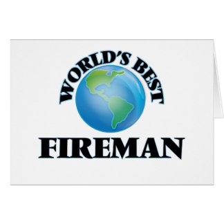 World's Best Fireman Greeting Cards