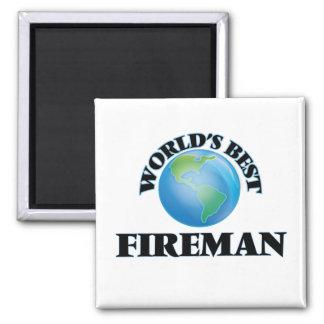World's Best Fireman Refrigerator Magnets