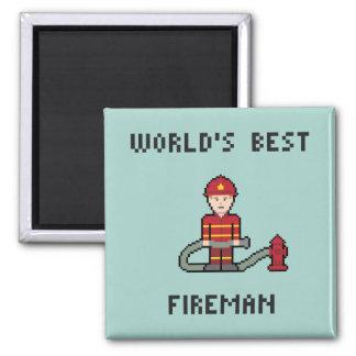 World's Best Fireman Square Magnet