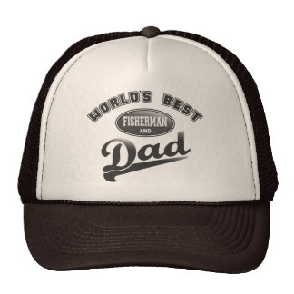 World's Best Fisherman & Dad Cap