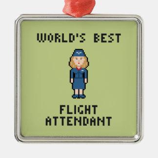 World's Best Flight Attendant Metal Ornament