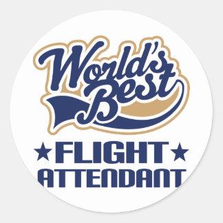 Worlds Best Flight Attendant Stickers