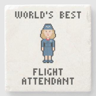 World's Best Flight Attendant Stone Coaster