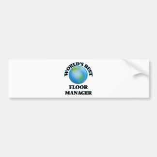 World's Best Floor Manager Bumper Sticker