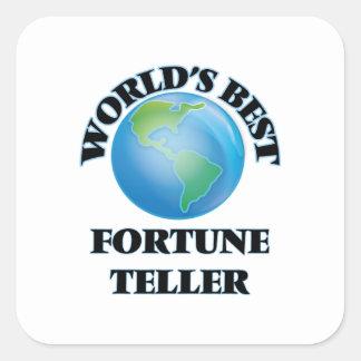 World's Best Fortune Teller Square Sticker
