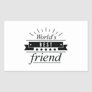 World's Best Friend Rectangular Sticker