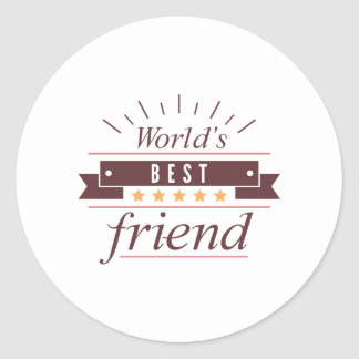 World's Best Friend Round Sticker