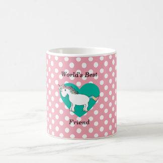 World's Best friend unicorn Basic White Mug