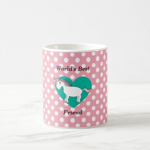 World's Best friend unicorn Mugs