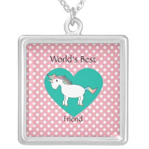 World's Best friend unicorn Jewelry