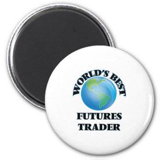 World's Best Futures Trader 6 Cm Round Magnet