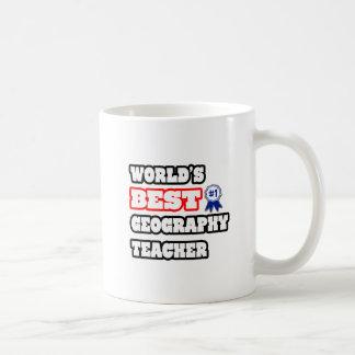 World's Best Geography Teacher Basic White Mug