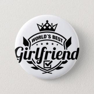 WORLDS BEST GIRLFRIEND 6 CM ROUND BADGE