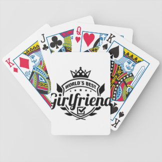 WORLDS BEST GIRLFRIEND BICYCLE PLAYING CARDS