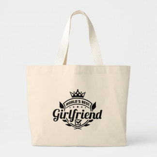 WORLDS BEST GIRLFRIEND LARGE TOTE BAG
