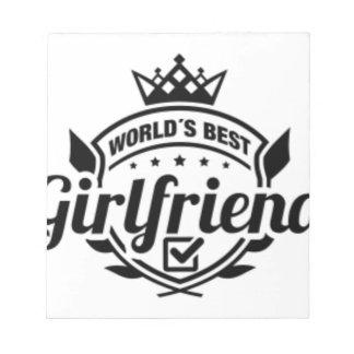 WORLDS BEST GIRLFRIEND NOTEPAD
