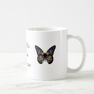 'World's Best Glamma' Butterflies Coffee Mug