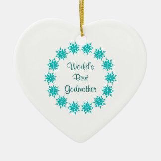 World's Best Godmother Christmas Ornament