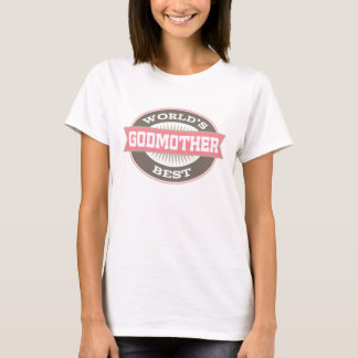 World's Best Godmother vintage logo ladies T-shirt