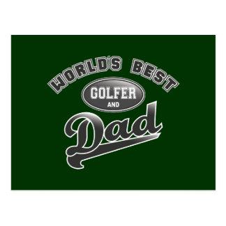 World's Best Golfer & Dad Postcard