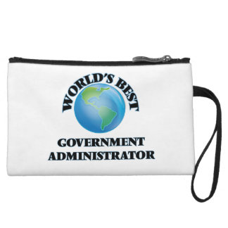 World's Best Government Administrator Wristlet Purse