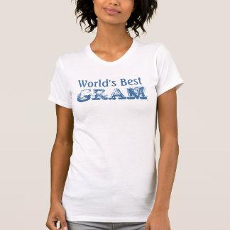 World's Best Gram - Blue and White Tee Shirts