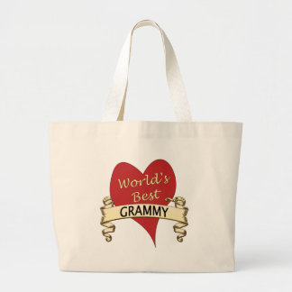 World's Best Grammy Jumbo Tote Bag
