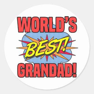 World's Best Grandad Classic Round Sticker