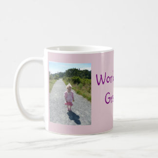 World's Best Grandma 2 Photo Collage Mug in Pink