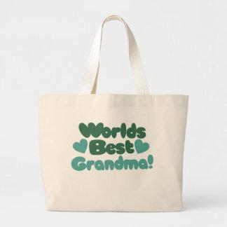 Worlds Best Grandma Canvas Bags