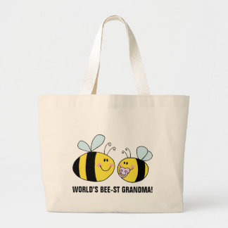 World's Best Grandma (Bee) Jumbo Tote Bag