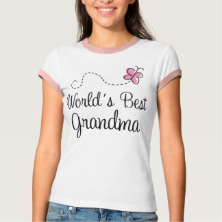 World's Best Grandma Butterfly Gift T-Shirt