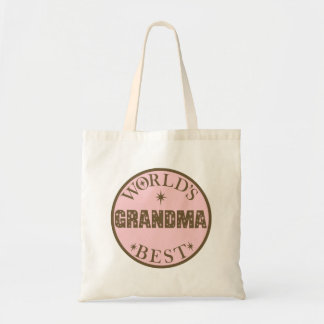 Worlds Best Grandma Gift Budget Tote Bag
