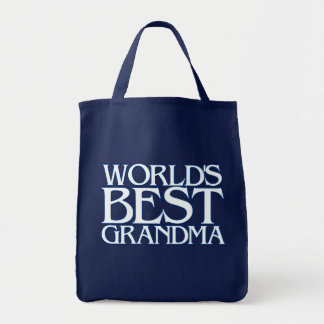World's best grandma grocery tote bag