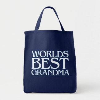 World's best grandma grocery tote bag