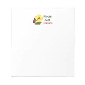 World's Best Grandma Notepad