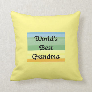 World's best grandma pillow