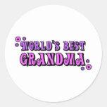 World's Best Grandma Round Sticker