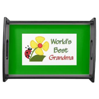 Worlds Best Grandma Serving Tray