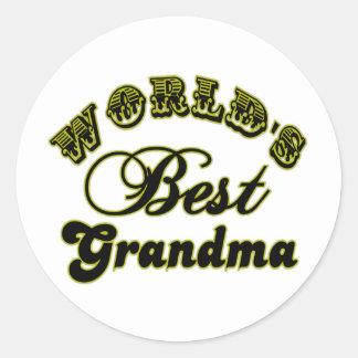 World's Best Grandma Sticker Round Sticker