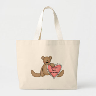 World's Best Grandma totebag Jumbo Tote Bag