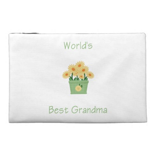 world's best grandma (yellow flowers) travel accessory bags